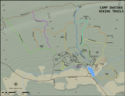 Camp Swatara hiking trails map